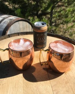 Copper barrel moscow mule mugs