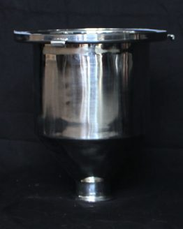 "Stainless Steel Hopper/Funnel - 2"" Tri-clover Connecter"
