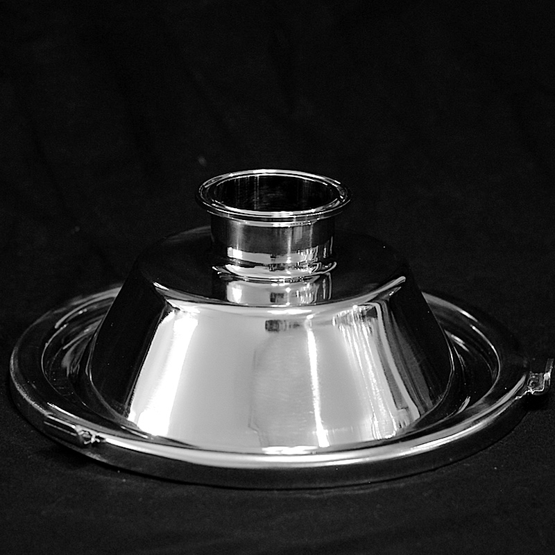 "Stainless Steel Domed Milk Can Lid - 2"", 3"", 4"""