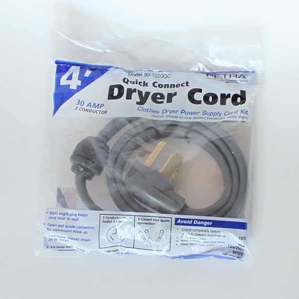 3-Prong 240V Power Cord for Heat Controller
