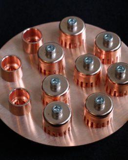 Copper Bubble-Cap Plate