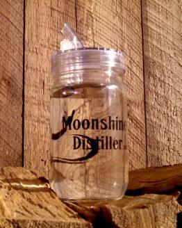 Moonshine Distiller Mason Jar with Pour Spout Lid