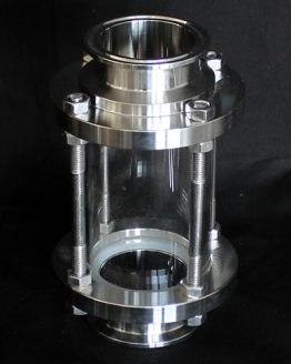 Column Sight Glass with Tri-clamp and Gasket (Multiple Sizes)