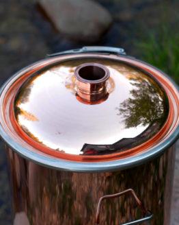 13 Gallon Polished Copper Boiler
