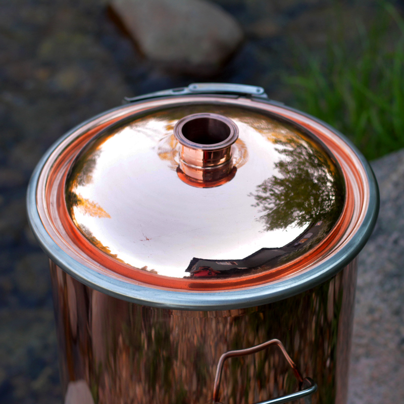 13 Gallon Polished Copper Boiler