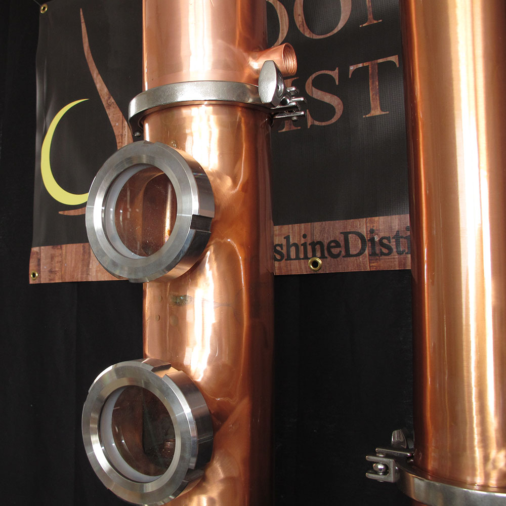 Copper Moonshine Still Column (a k a  the Flute)