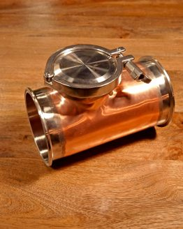 Copper Gin Basket with Clamps and Gaskets