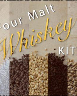 Four Malt Whiskey Ingredients Kit and Recipe