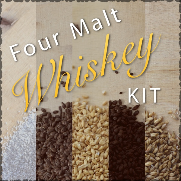 Four Malt Whiskey Ingredients Kit and Recipe