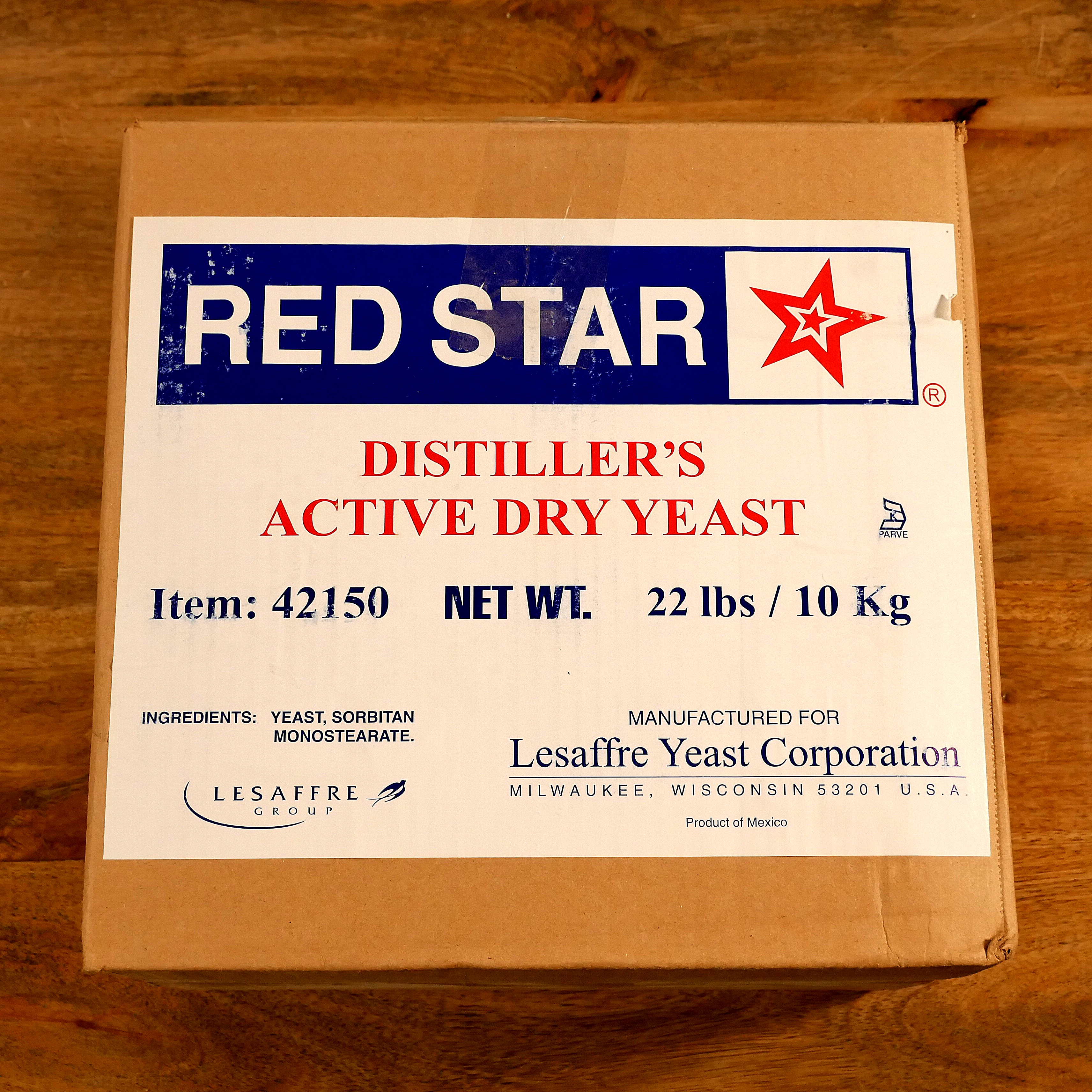 Red Star Distiller's Active Dry Yeast (DADY) 10kg (22lb)