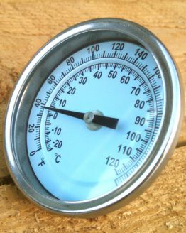 "Premium Bi-Metal Thermometer - Stainless Steel, 3"" Dial"