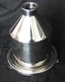 "Stainless Steel Hopper/Funnel - 2"" Tri-clover Connecter"